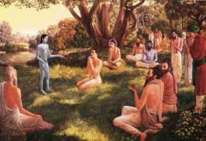 Sukadeva_Swami_Meets_Cursed_Parikshit_in_Ganges