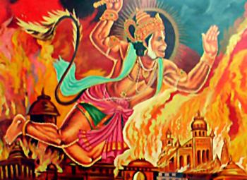 HanumanBurningLanka