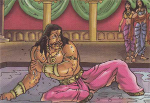 Draupadi_laughing