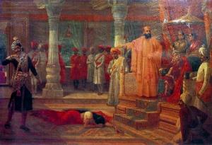 Draupadi humiliated by Kichaka in the court