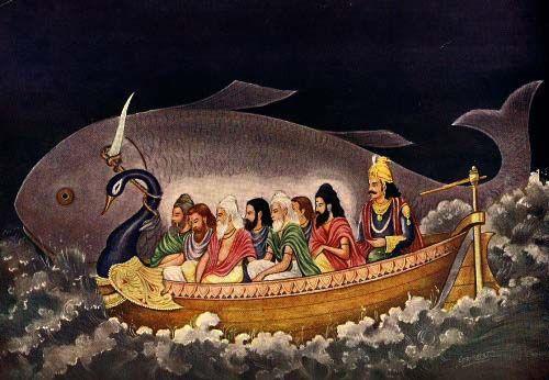 Sapta-Rishis, les sept sages, le déluge et Matsya