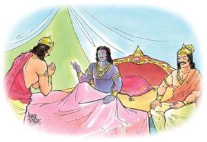Arjuna chooses Krishna